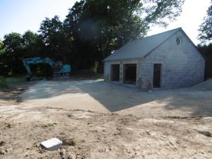 Projet en cours - garage à La Bazouges du Désert